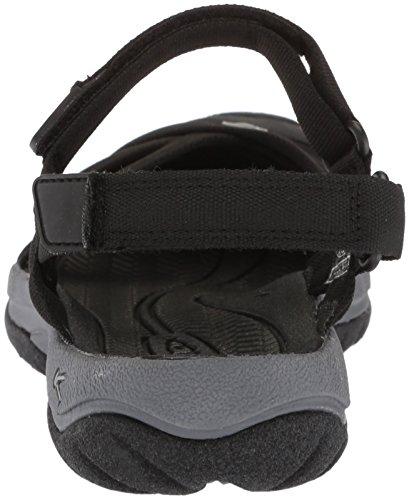 Cinturino Sandalo Donna Nero Cinturino Nero / Grigio Acciaio