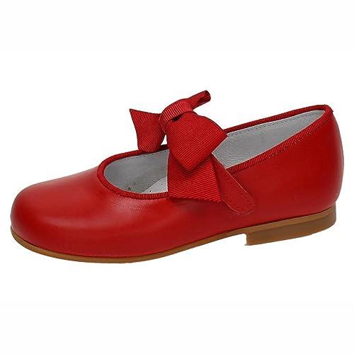 b477c7a38 BAMBINELLI 4210 Zapatitos Rojos NIÑA Merceditas  Amazon.es  Zapatos y  complementos