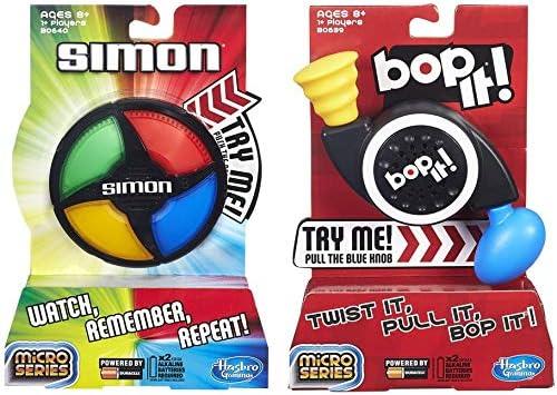 Simon Micro Series Game + Bop It Micro Series Juego - Paquete de 2 Juegos: Amazon.es: Juguetes y juegos