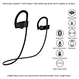 Bluetooth Headphones, COMESONG Wireless Earbuds IPX6 Waterproof HD Stereo Sweatproof Sports Earphones with Mic,10 Hrs Working Time for Running Gym Workout Earbuds Secure Fit Noise Cancelling Headsets