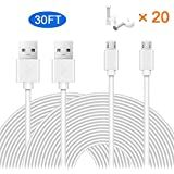 MOYEEL 2-Pack 30Ft Power Extension Cable for Wyze Cam/Wyze Cam Pan, Blink XT Cam,Durable Charging and Data Sync Cord for Home Security Camera