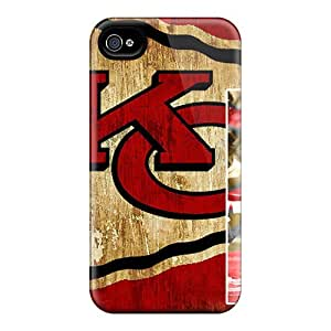 Protective Hard Cell-phone Cases For Apple Iphone 4/4s (fse20905OfuK) Customized Beautiful Kansas City Chiefs Pattern