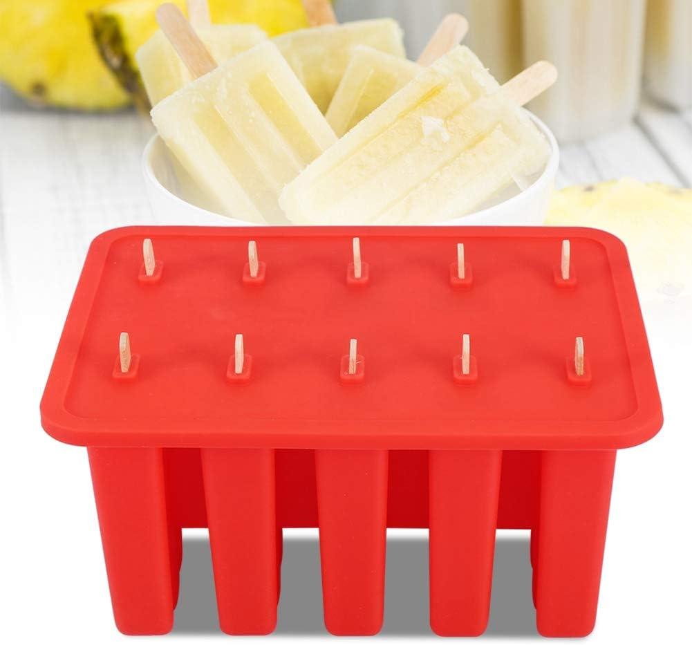 10 paletas de gel de s/ílice con 50 palos Molde para helado Blanco