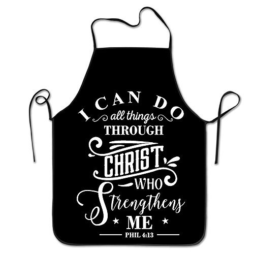 I Can Do All Things Through Christ Who Strengthens Me. Kitchen Woman Aprons Cute Adult Aprons