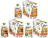 earths best sides - Sprout Organic Baby Food Pouches Stage 3 Meat Variety Pack, 4.0 Ounce (Pack of 18); Root Vegetables Apple with Beef, Creamy Vegetables with Chicken, Garden Vegetables Brown Rice with Turkey