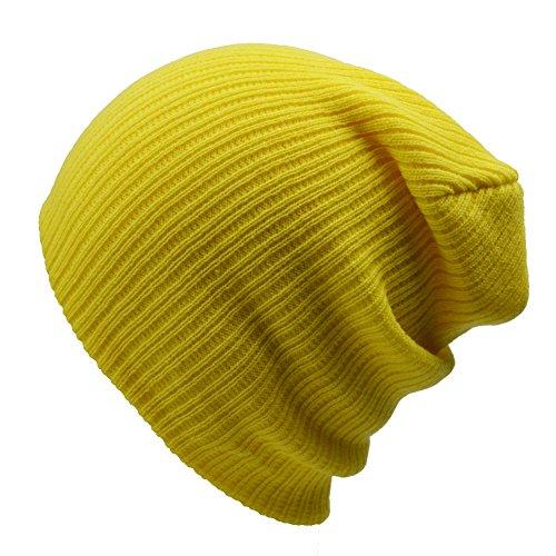 Sandy Ting - Gorro de Punto - para Hombre amarillo