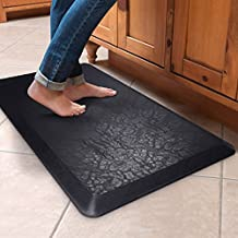 "REIDEA Comfort kitchen Mat, 20""x36""x3/4"", Premium Cushioned Floor Anti-Fatigue Mat for Kitchen and Standing Desks, Phthalate Free, Non-Slip, Non-Toxic, Black"