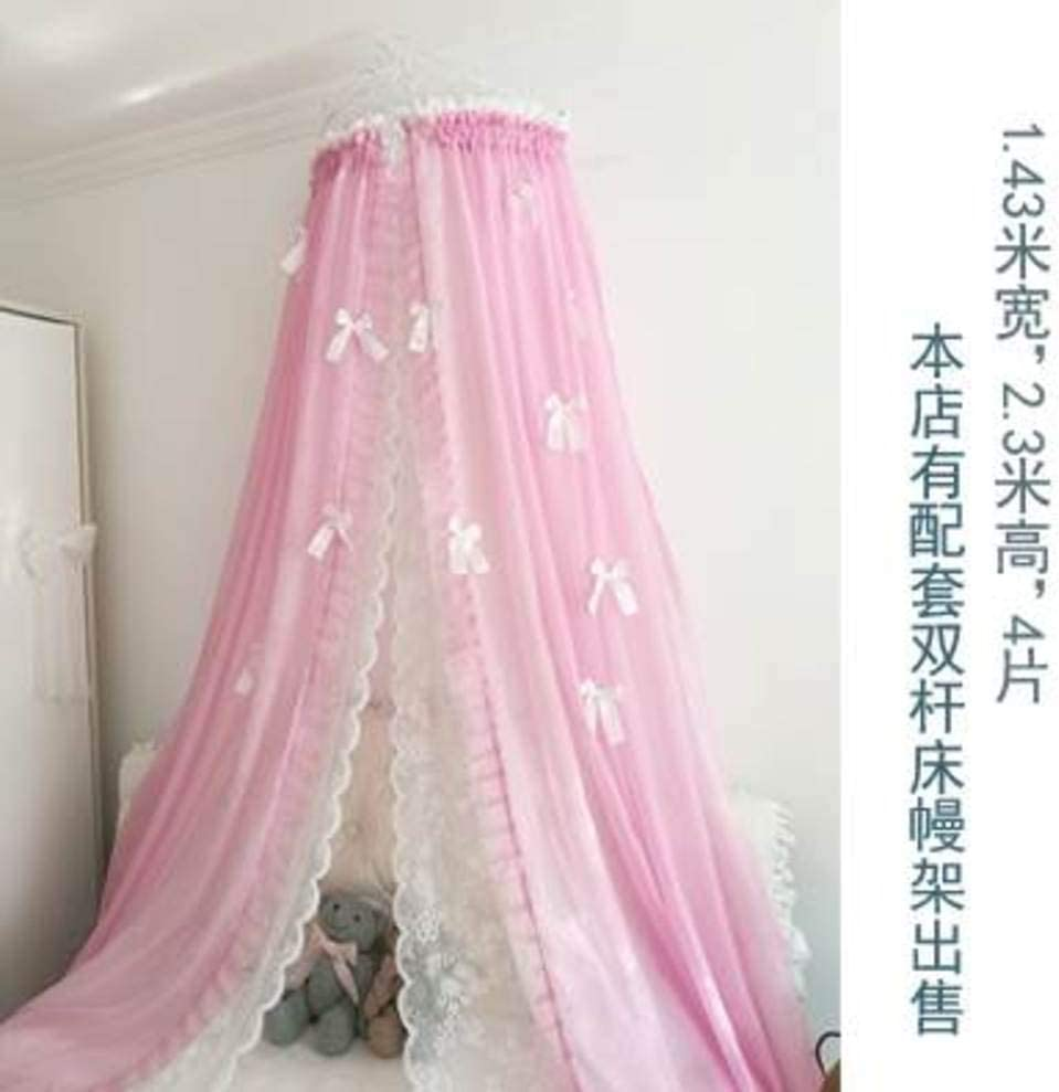 HOMEJYMADE Fringe Mosquito Net,Princess Bed Canopy with Butterfly Bedding Crown Mosquito Bedding Decor-A Full