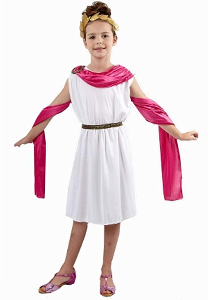 Child Girls Roman Princess Toga Costume