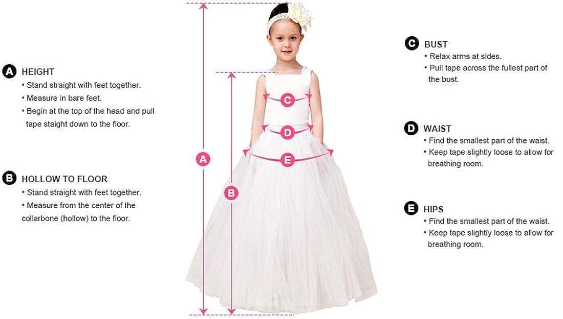 EnjoyBridal® Flower Girls Dress Short A-line Organza Rose Neckline Little Kids Princess Communion Dress 9 Years: Amazon.co.uk: Clothing
