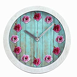 Usany 5'' Rose wood small alarm clock creative Continental Desktop Block clocks and watches roses alarm clock