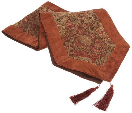 Paisley Table Runner - Chesapeake Merchandising Paisley Runner Table Cloth with Velvet Border