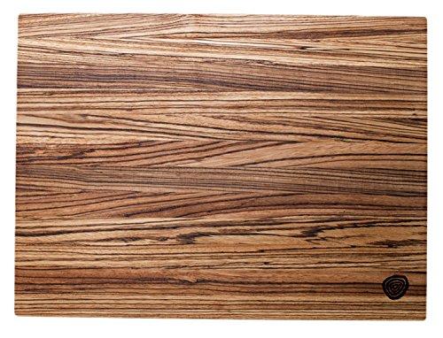 Burl & Blade Zebrawood Cutting Board Butcher Block - 12