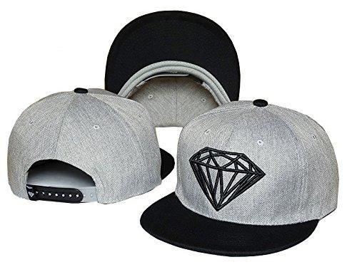 Men's Diamond Supply Co Snapback Adjustable Baseball Cap Hip hop Gray Black Hat