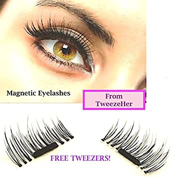 bc22c16b7ee Special Introductory Offer - FREE EyeLash Tweezers with your Magnetic  Eyelashes, Lash Extensions from TweezeHer: Amazon.co.uk: Beauty
