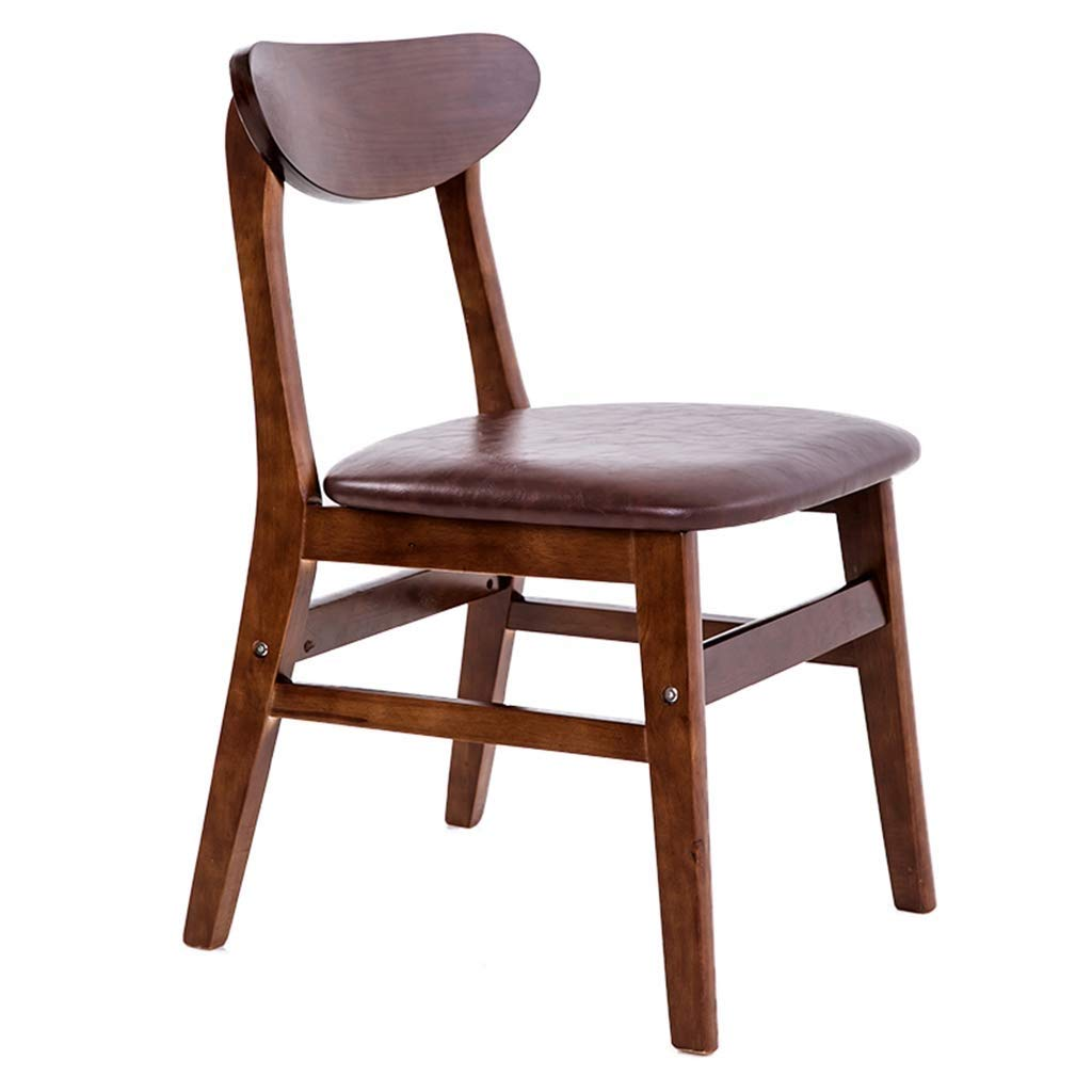 8 30-inch Restaurant Solid Wood Chair, Comfortable Leather Cushion with Backrest, Tea Shop Cafe Dining Chair Office Chair Computer Chair (color    9)