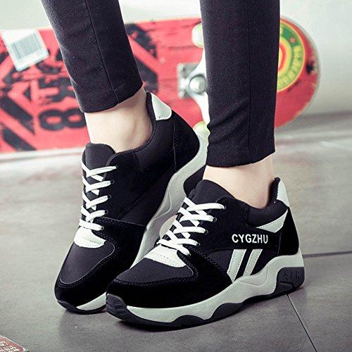 En Los Para Negro Planos Mujer Aire Wealsex Correr Aumentar Libre Zapatos Casuales De Asfalto Running Zapatillas Deporte Deportes Montaña Placa wBq8Cx7