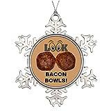 Vikefe_ety Large Christmas Tree Snowflake Ornaments Nice Set of Bacon Weave Bowls Making Christmas Snowflake Ornaments I Love Bacon