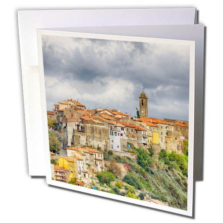3dRose Danita Delimont - Italy - Italy, Tuscany, Montegiovi, The medieval town of Montegiovi. - 6 Greeting Cards with envelopes (gc_277678_1)