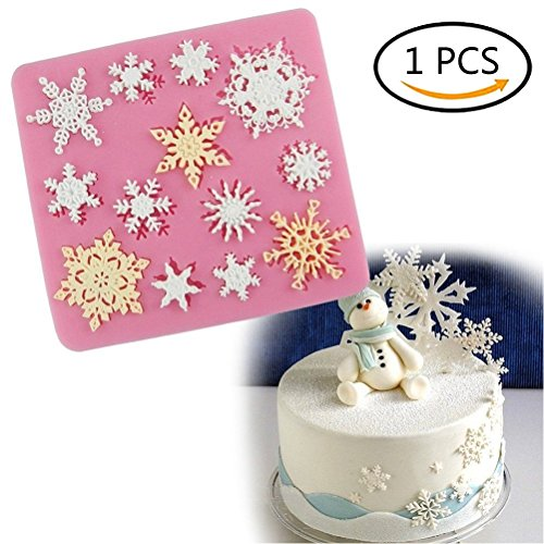 AOWA Snowflake Silicone Fondant Cake Mold Chocolate Sweet Mould Sugarcraft Decorating Tool
