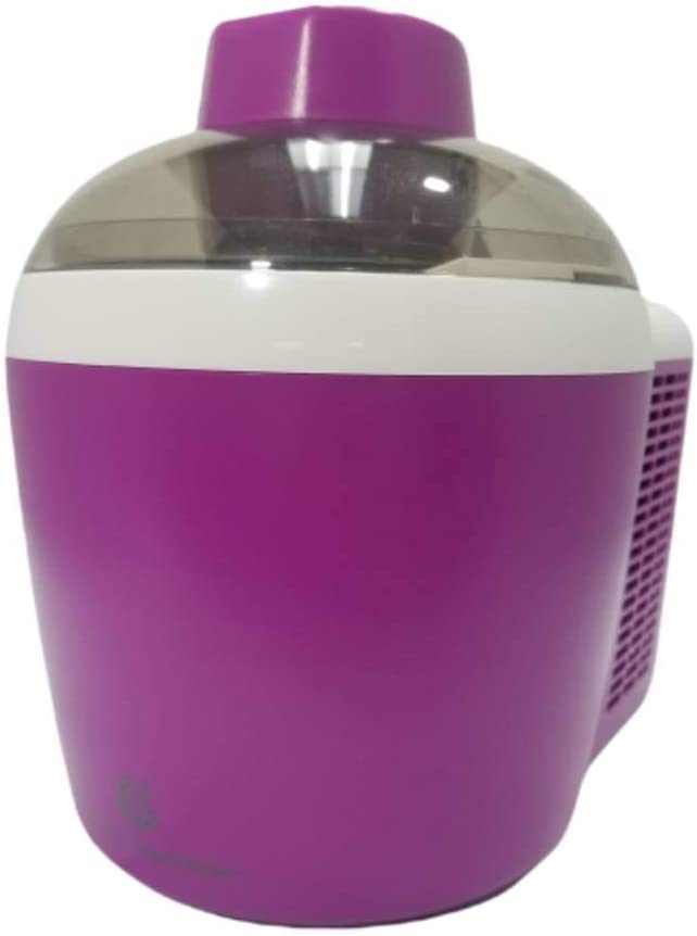 Ice Cream Maker Machine Self-Freezing System 1.5 Pint 90W Energy-saving Motor See-through Lid K45559154000 (Renewed) (Purple)