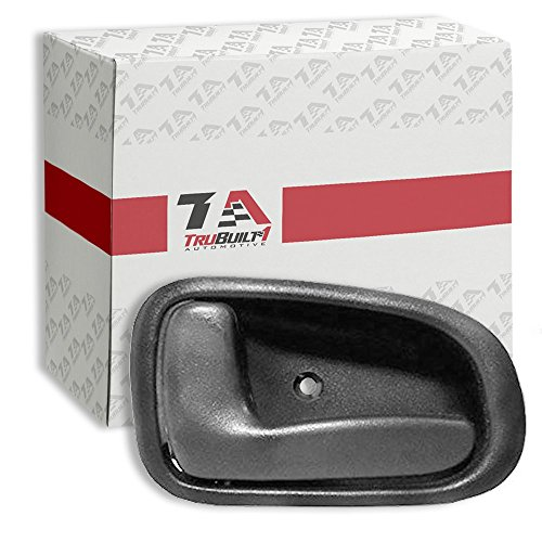 T1A Front or Rear Inside Left Driver Side Interior Door Handle Replacement for 1993-1997 Toyota Corolla and Geo Prizm, Gray or Grey Color, T1A 69206-12130-G