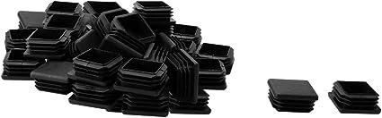 sourcingmap plastica Tappo Tubo Quadrato mobili sedie Gambe 30/mm x 30/mm 30/Pezzi Nero