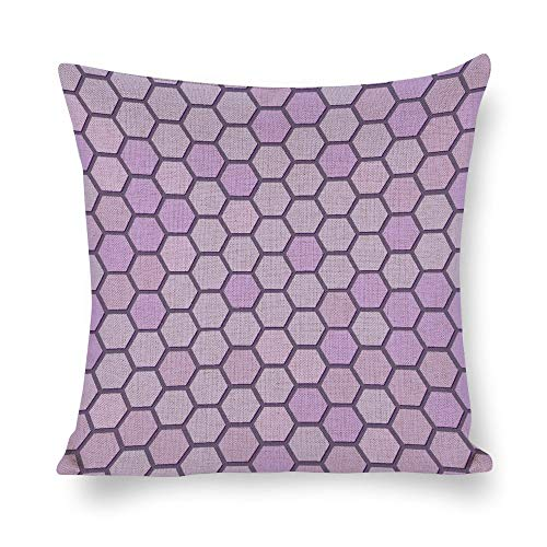 Welkoom Sofa Pillow Cases Soft Cotton Pillowcases Line Pattern Purple Pink Magenta Cotton Linen Decorative Cushion -