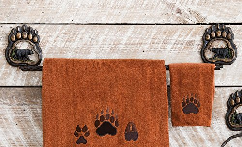 Cabin Towel Racks (Bear Paw Wilderness Rustic Towel Bar - Cabin Bathroom Accessories)