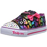 SKECHERS Kids' Dazzlin Girl Inf/Tod (Black/Purple 5.0 M)
