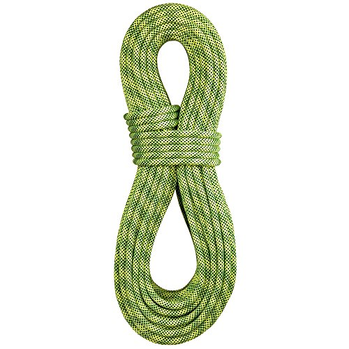 BlueWater Ropes 9.7mm Lightning Pro Standard Dynamic Single Rope (Flavine/Sprout, 70M)