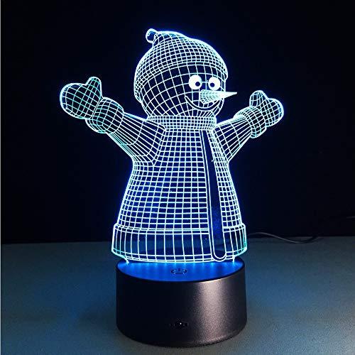 Lifme Xmas Series Christmas Home Party 3D Lamp Led Night Light Luminary Santa Claus Tree Snowmen Christmas&New Year Gifts