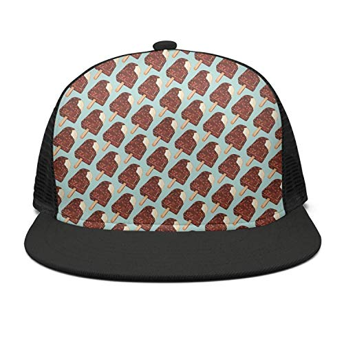 Chocolate Popsicles Flat mesh Best Custom Baseball caps