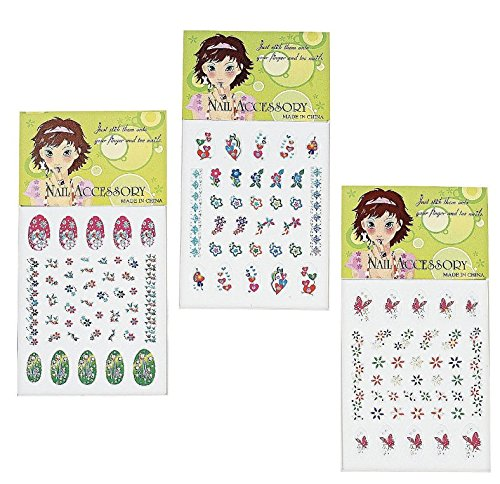 Nikki's Knick Knacks 72 Piece Spa Party Favors for Girls- Toe Separators, Emery Boards, Nail Decals, Hair Braid Clips, and Body Jewels by Nikki's Knick Knacks (Image #4)