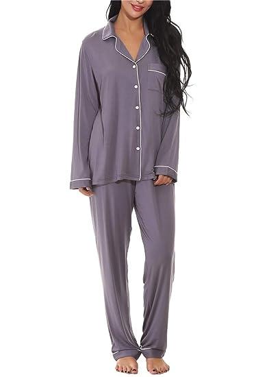 Seazoon V Neck Sleepwear Cardigan Nightgowns Waist Button Night Sleep Pj  Set for Women Plus Size 6c9fbf841