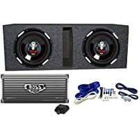 2 BOSS AUDIO P106DVC 10 4200 Watt Car Subwoofers+AR4000D+Amp Kit+Vented Sub Box