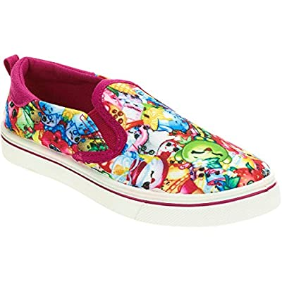 Shopkins Girls Canvas Slip On Shoes