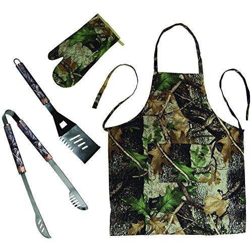 Camo Barbecue Tool Set with Apron Mitt