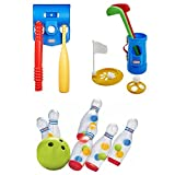 Kids 18M+ TotSports Grab 'n Go Golf, T-Ball Set & Clearly Bowling Play Set, Little Tikes, Toddler, Outdoor Sports & Games, Motor Skills, Coordination, Social, Role Play, Engaging Activity For Kids