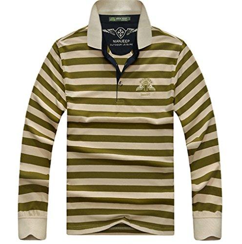 Wardrobe King Men's Casual Long Gentle Streak Undershirt Sleeve Keep Warm