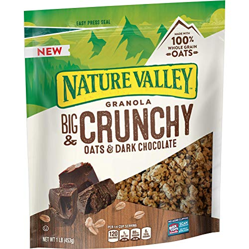 Nature Valley Big Crunchy Granola Oats n Dark Chocolate, 4 Count