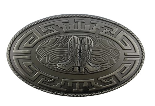 Aztec Cowboy Boot Texas Wide Vintage Belt Buckle Western Costume Collectible New