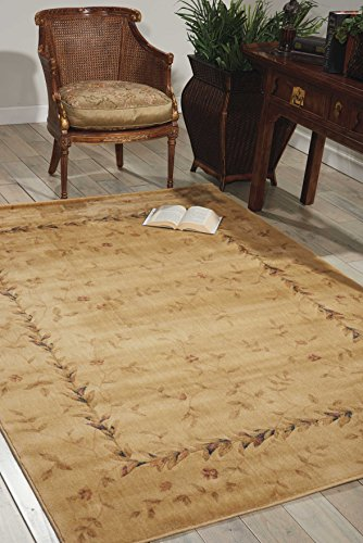 (Nourison Somerset (ST04) Beige Rectangle Area Rug, 2-Feet by 2-Feet 9-Inches (2' x 2'9