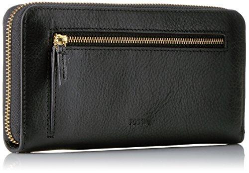 Fossil Emma Large Zip Wallet Rfid, Black