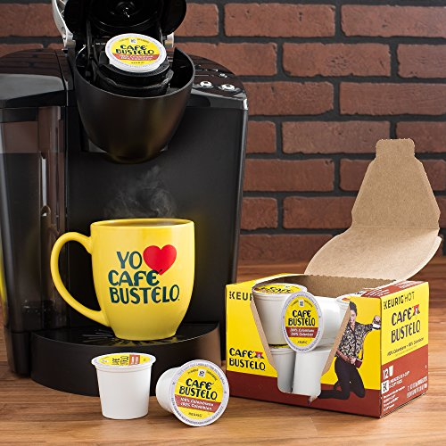 Café Bustelo Coffee, 100% Colombian Medium Roast, K Cup Pods for Keurig Coffee Makers, 72 Count