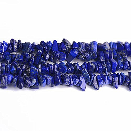 Natural Healing Gemstone Blue Lapis Lazuli Irregular Chips Beads for Women Necklace Bracelet Earrings Jewelry Making Sold by One Strand