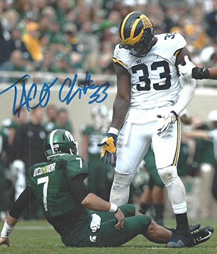 Taco Charlton Autographed with inscription Michigan Wolverines 8x10 Photograph -Certified Authentic