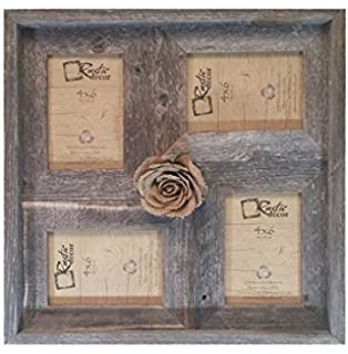 4x6 2 wide multi direction rustic barn wood collage frameholds 4