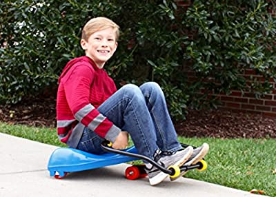 THE Original Sport Roller Racer ~ Blue Scooter ~ Made in USA by Mason Corporation, Active fun and completely assembled. TopRated by PE teachers, parents & kids. RamsHorn handlebars for Group Games