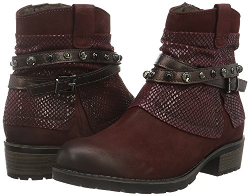 25311 550 Ankle Boots Red Comb Women''s bordeaux Tamaris UwB5qOz
